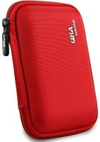 Gizga Essentials Hard Drive Case 2.5 inch Double Padded(For 2.5-Inch External Hard Drive, Red)