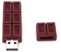 Microware Chocolate Shape 8gb pendrive 8 GB Pen Drive(Brown)