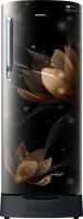 SAMSUNG 212 L Direct Cool Single Door 4 Star Refrigerator(Blooming Saffron Black, RR22N385YB8/HL)