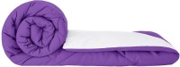 Cloth Fusion Plain Single Comforter(Cotton, Purple, White)