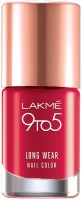 Lakme 9 to 5 Long Wear Nail Color red risk