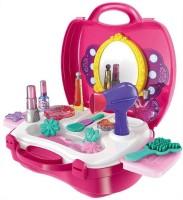 PRESENTSALE Makeup Set For Children Girls Pretend Play Make up Kit Include 21 Pcs Beauty Salon Toys Make up Box
