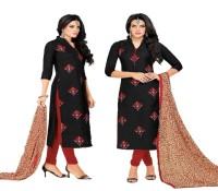 Style Amaze Chanderi Cotton Printed Kurta & Churidar Material(Un-stitched)