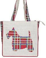 Bohemians' bag Women's Fashion jute bag - Scooby Waterproof Multipurpose Bag(Red, White, 12 inch)