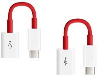 RETRACK SET OF 2PC Universal Type C 3.1 To USB Adapter(Red)