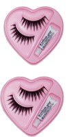 KONIT 12-Number Uniformly Spread Rare Look Dense, Black Coloured Eye Lashes (Pack Of 2)(Pack of 2) - Price 108 56 % Off