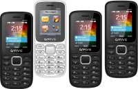 Gfive U220+ Pack of Four Mobiles(Black$$Blue, Black$$Red, Black$$Grey, White$$Blue) Flipkart deals