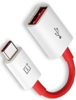 OnePlus USB TO TYPE C ONE PLUS OTG CABLE SYNC AND CHARGING USB Adapter(Red, White)