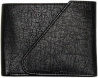 Wildland Men Black Artificial Leather Wallet(5 Card Slots)