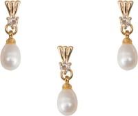 Taj Pearl Alloy Jewel Set(Gold)