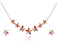 Yellow Chimes Alloy Jewel Set(Multicolor)