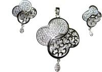 Poddar Jewels Alloy Jewel Set(Silver)