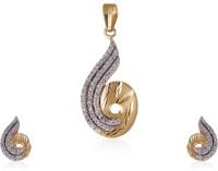 Jisha Yellow Gold Rhythm Of Love 18kt NA Earring & Pendant Set