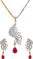 alysa Brass, Copper, Silver Jewel Set(Gold, Silver, Red)