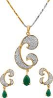 alysa Brass, Copper, Silver Jewel Set(Gold, Silver, Green)