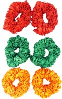 One Personal Care Princess Colorful Designer Fabric Scrunchies Casual Wear SQ-541-02 Rubber Band, Hair Accessory Set(Green, Red, Yellow) - Price 139 53 % Off