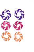 One Personal Care Princess Colorful Designer Fabric Scrunchies Casual Wear SQ-549-02 Hair Accessory Set, Rubber Band(Purple, Pink, Orange) - Price 139 53 % Off