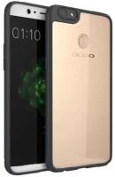 Johra Bumper Case for Oppo F5(Black, Dual Protection, Plastic)