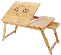 PAffy Bamboo Portable Laptop Table(Finish Color - Wood Texture)
