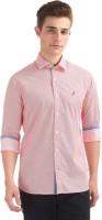 Nautica Men Printed Casual Pink Shirt