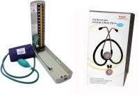 Diamond Mercury Deluxe Model BPMR120 with Original brand Stethoscope ST0002 Combo Kit BPMR120 Bp Monitor(Green, Black)