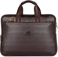 The Clownfish Aloha Briefcase Small Briefcase - For Men & Women(Brown)