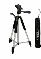 Photron Tripod Stedy 450 with 4.5 Feet Pan Head + Extra Quick Release Plate + Foam Grip + Carry Case Tripod Kit(Black, Silver, Supports Up to 2.75 g)