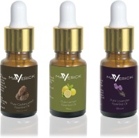 Maverick Pure Lavender, Cedar wood & Lemon essential oil 3 in 1 pack with dropper(10 ml) - Price 499 80 % Off