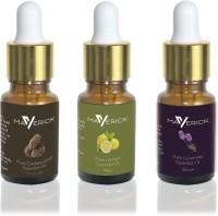 Maverick Pure Lavender, Cedar wood & Lemon essential oil 3 in 1 pack with dropper(10 ml) - Price 499 80 % Off