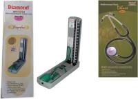 Diamond Mercury Regular Model BPMR112 with Original brand Stethoscope ST0012 Combo Kit Bp Monitor(Green, Black)