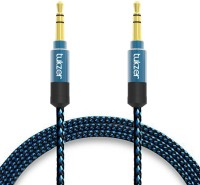 Tukzer Premium 1.5mtr long 3.5mm Aux Cable, Male to Male Gold Plated Connectors, High Quality Nylon Fiber Shielding, Tangle Free AUX Cable(Blue&Black) thumbnail