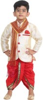 SBN Boys Festive & Party Kurta, Dhoti Pant & Dupatta Set(Beige Pack of 1)