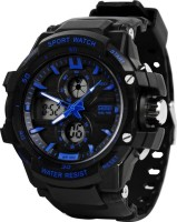 Skmei 0990 Blue Analog-Digital Panther Watch Watch  - For Men
