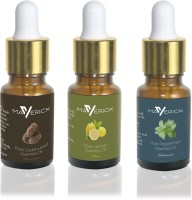 Maverick Pure Cedar Wood, Peppermint & Lemon essential oil 3 in 1 pack with dropper(10 ml)