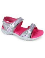 Footfun by Liberty Boys & Girls Velcro Sports Sandals(Pink)