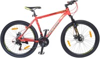Atlas Cliffhanger Front Suspention Disc Brake Bike For Adults Red&Yellow 26 T 21 Gear Mountain/Hardtail Cycle(Red)
