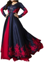 impression fab Anarkali Gown(Blue)