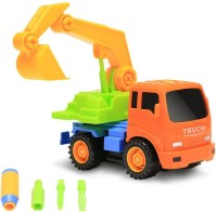 Building Mart 2-in-1 Friction Powered Take-A-Part Tools Construction Excavator Vehicle Truck Playset