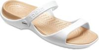 Crocs Women Oyster/Gold Flats