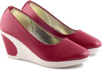 PIPILIKA Ballerinas Princess 6112 Red Trendy High Heel Belly Shoes for Women Bellies For Women(Red)