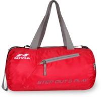952c29b1c3f1 Nivia Deflate Round - 01 gym bag(Red