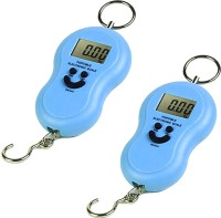 Xhaiden Blue Digital Hanging |Pack of 2| Smiley Cylinder Luggage 50kg Weighing Scale(Blue)