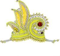 THE HOLY MART Yellow Premium Mala Mukut (7 size) Deity Ornament(KRISHNA, Balgopal, Govinda, LADOO GOPAL, Hanuman, Radha krishna, Durga Devi, OTHER GODS,)