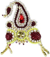 THE HOLY MART Devi Mahroon mala mukut (3 size) Deity Ornament(Krishna, Balgopal, Govinda, Ladoo Gopal, Hanuman, Radha krishna, Durga devi, Kali mata, Laxmi ji)