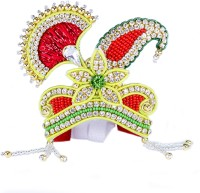 THE HOLY MART Flower diamond Mala Mukut (5 size) Deity Ornament(KRISHNA, Balgopal, Govinda, LADOO GOPAL, Hanuman, Radha krishna, Durga Devi, OTHER GODS,)