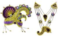 THE HOLY MART Big Size Deity Purple Mala Mukut Jewellary Set (5 size) Deity Ornament(KRISHNA, Balgopal, Govinda, LADOO GOPAL, Hanuman, Radha krishna, Durga Devi, OTHER GODS,)