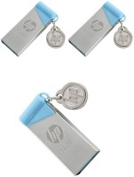 HP V215b USB Flash Drive - Pack Of 3 Pendrive 16GB - USB 2.0 16 GB Pen Drive(Silver)