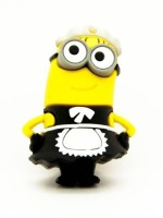 Microware Cartoon Maid Shape 16 GB Pen Drive 16 GB Pen Drive(Yellow, Black)