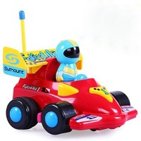RVOLD Cartoon R/C Formula Race Car Radio Control Toy for Toddlers (Assorted Colors)(Multicolor)