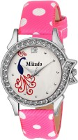 Mikado Pink Princess Fashionable casual Round Analog watch for Women and Girls With 1 year warranty Watch  - For Women